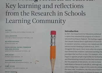 Approaches to embedding research in schools