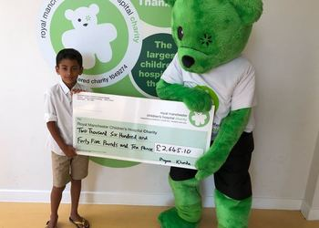 Dheyan's fantastic charity donation