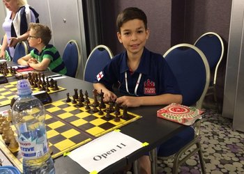 Chess star Ethan flies the flag for England