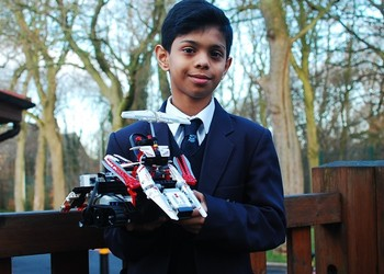 Star prize for LEGO Master Builder Adhitya