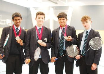 Silver Medal National success for MGS Badminton team
