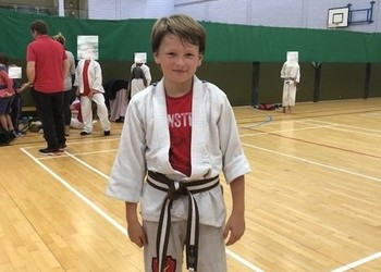 Black belt for young martial arts ace Hugo