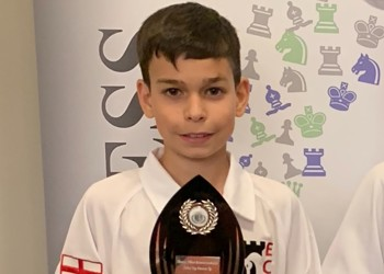 Chess star Ethan helps England finish as runners-up