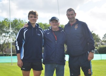 Former England Rugby Union Head Coach Brian Ashton MBE helps coach our Senior Squad
