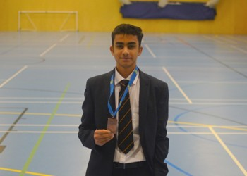 Cholan wins Bronze Medal at European Badminton Championships