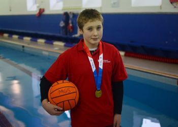 Waterpolo ace Sam helps his team win national competition