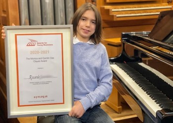 Prestigious national award for young musician Riccardo