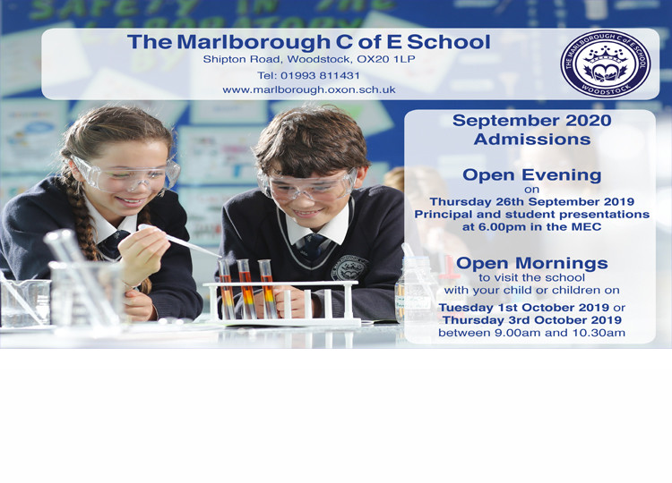 Prospective Parents' Open Evening 26th September 2019 at 6pm