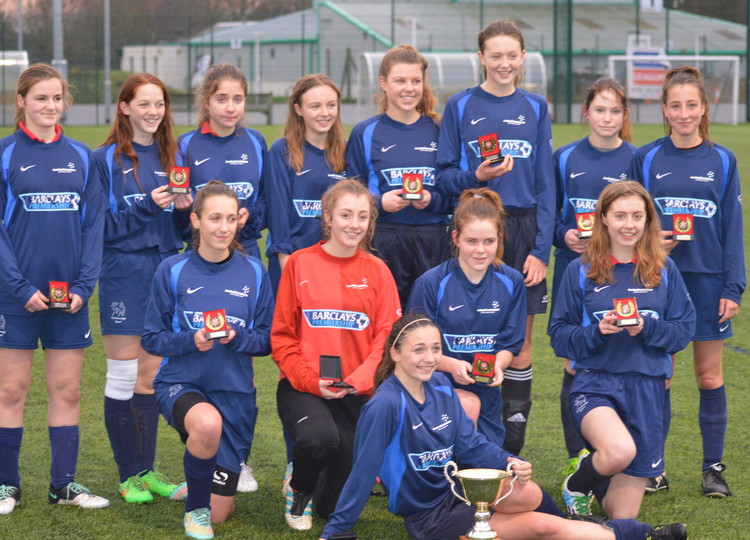 U16 Girls County Football Champions!