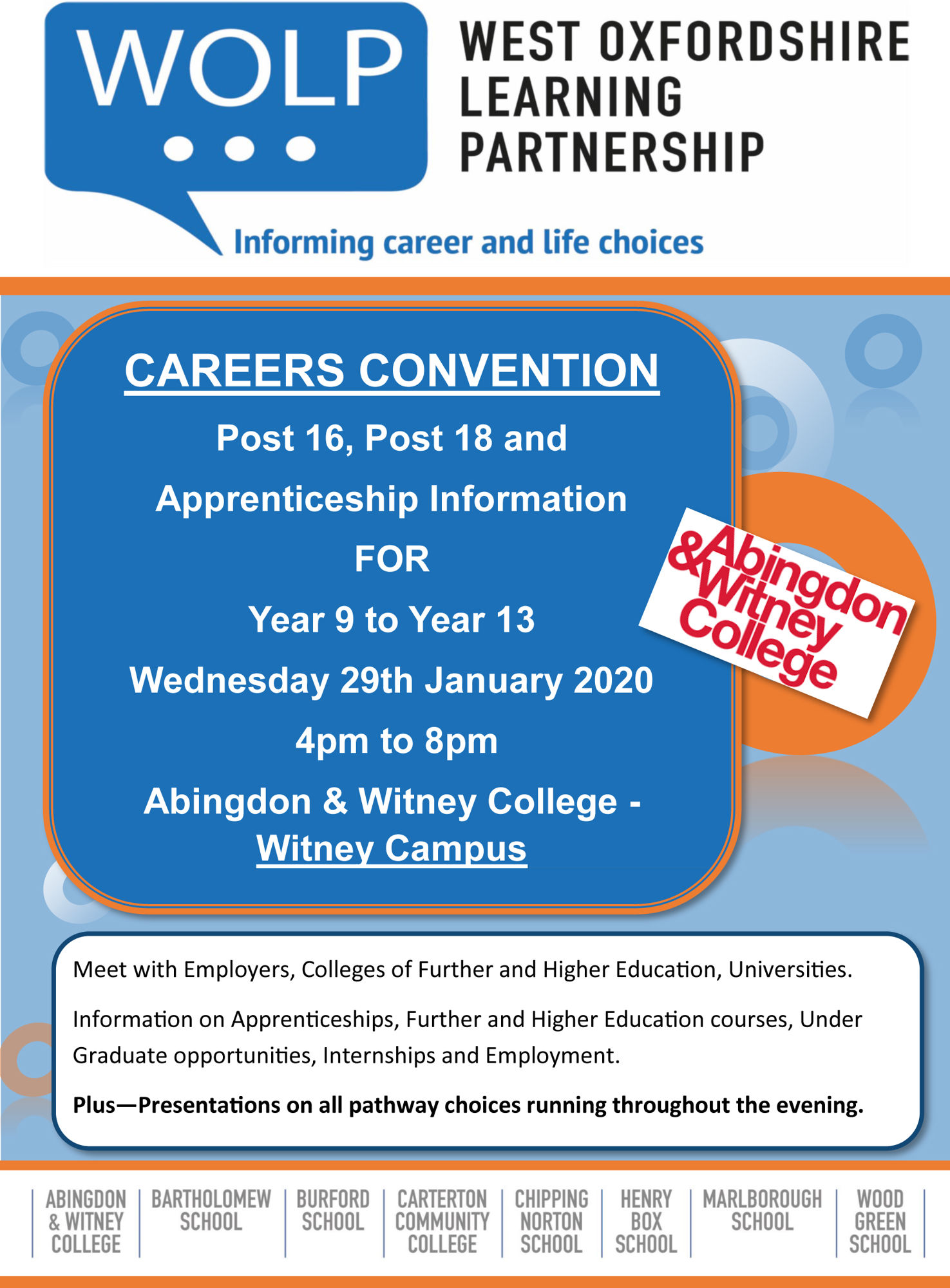 Careers convention 290120 leaflet