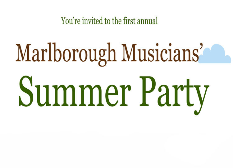 Marlborough Musicians' Summer Party