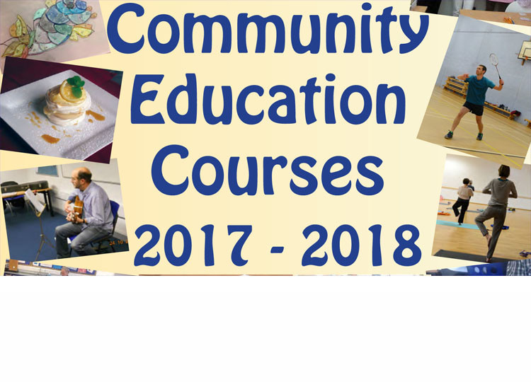Community Education Courses 2017-18