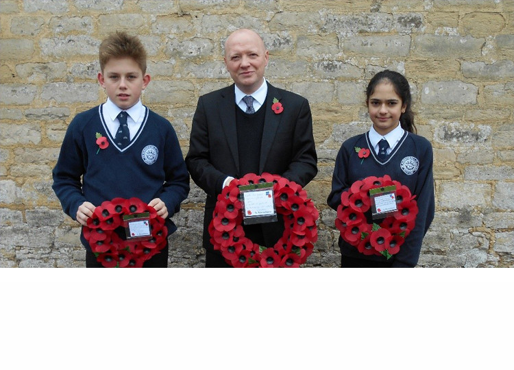 The Act of Remembrance at The Marlborough C of E School