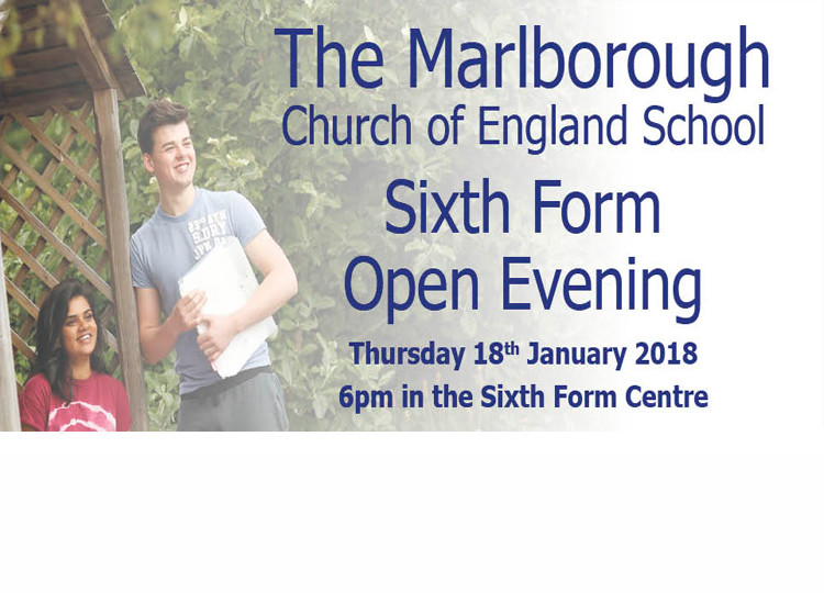 Sixth Form Open Evening - Thursday 18th January