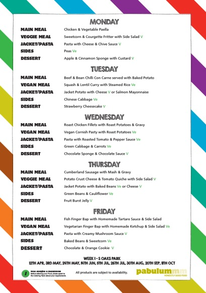 A4 Oaks Park Standard Weekly Menu Portrait April 2021 1
