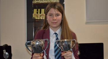 Violinist Awarded Two Trophies