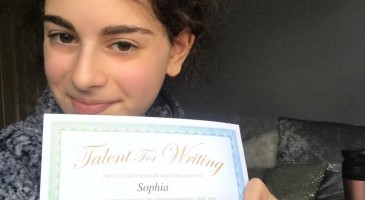 Recognition for another Young Writer