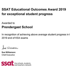 Prendergast School Wins 2 National Awards From SSAT