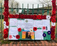Remembrance notice board 1