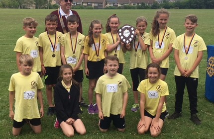 Winners of The Rotary Club of Chard Primary School Athletics!