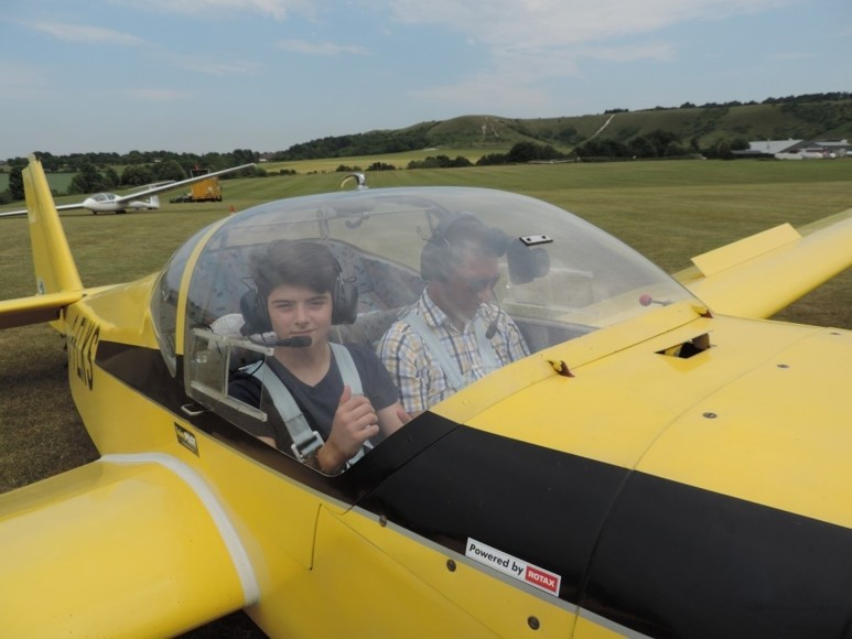 The Company organised a Gliding trip for the top 10 science students