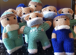 Knitted bears for NHS nurses