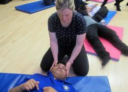 Yoga accessible to students with PMLD