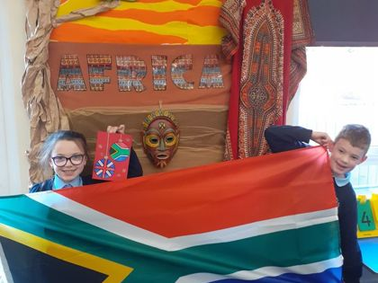 Students learn from South African friends