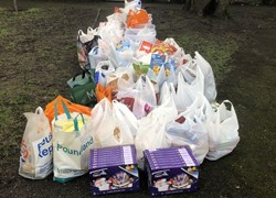 Grateful families donate to food bank