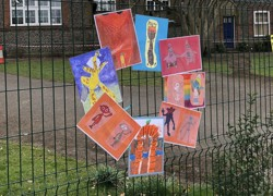 School turned into art exhibition