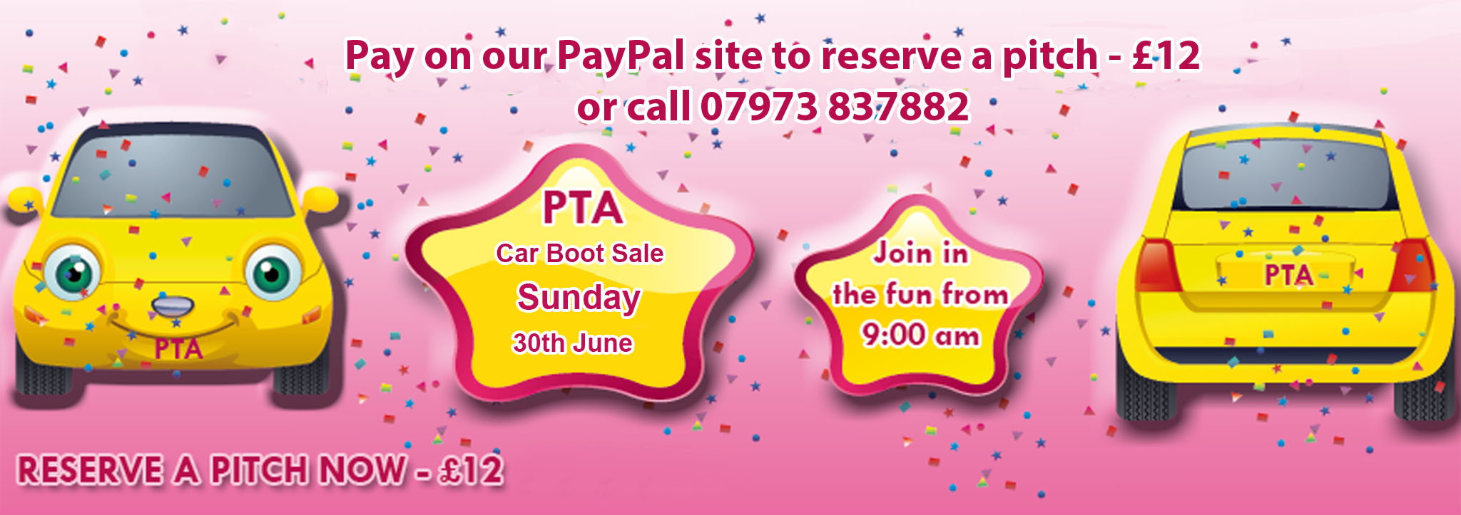 PTA Carboot 30th June 2019