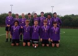 Year 10 Boys Football Team: Trafford Champions 2015-2016