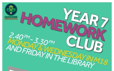 Year 7 Homework Club