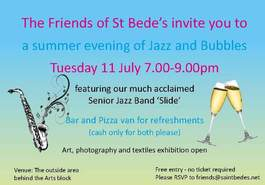 Friends of St Bede's Jazz and Bubbles evening featuring Slide