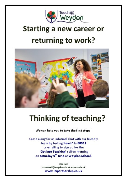 Get into teaching poster