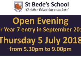 Open evening - Thursday 5 July - 5.30-9.00pm
