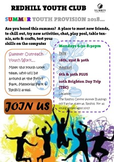 Redhill youth club summer activites 2018