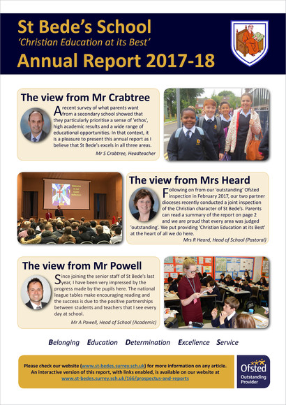 St bedes annual report 2017 18 front cover