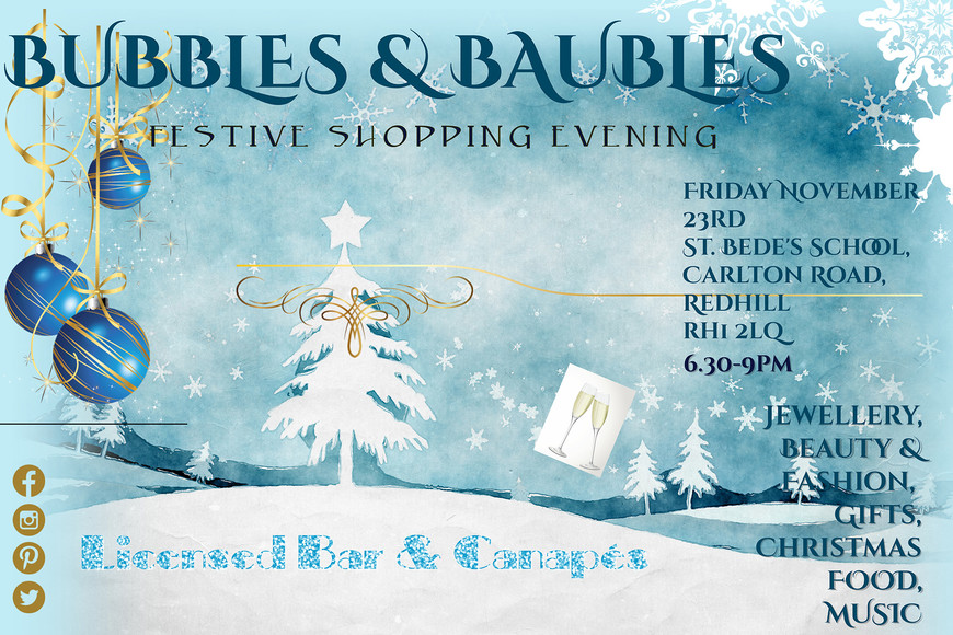 Christmas fayre bubbles baubles poster smaller