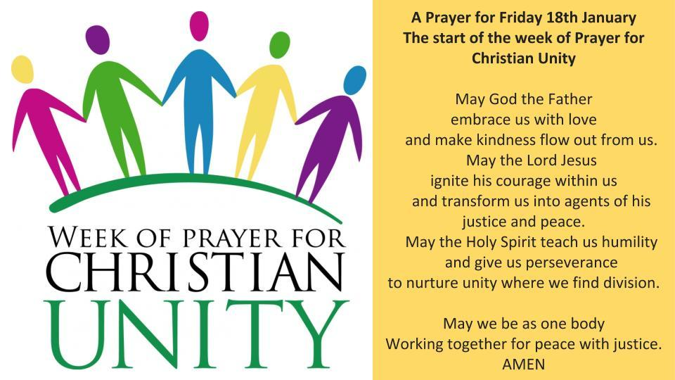 Week of prayer for christian unity 2019 day 1