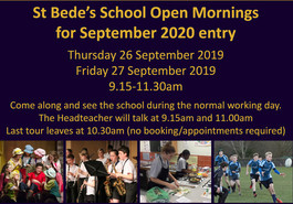 Open Mornings in September 2019