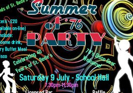*** CANCELLED DUE TO LACK OF SUPPORT *** Summer of '76 Party - Saturday 9 July 2016