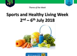 SPORTS AND HEALTHY LIVING WEEK 2ND – 6TH JULY 2018