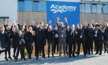 staff-and-pupils-at-tkats-the-academy-selsey-celebrate-a-well-deserved-good-rating-from-ofsted